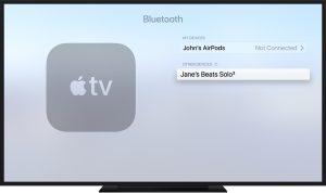 Apple TV 4K Bluetooth Screen